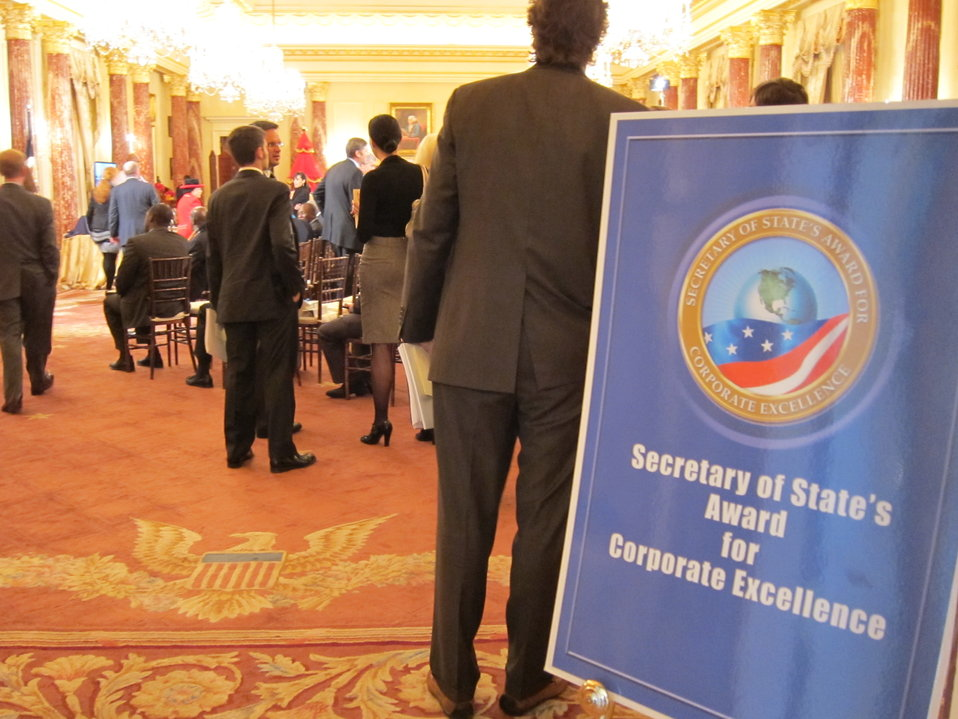 Individuals Arrive at the Secretary's ACE Award Ceremony