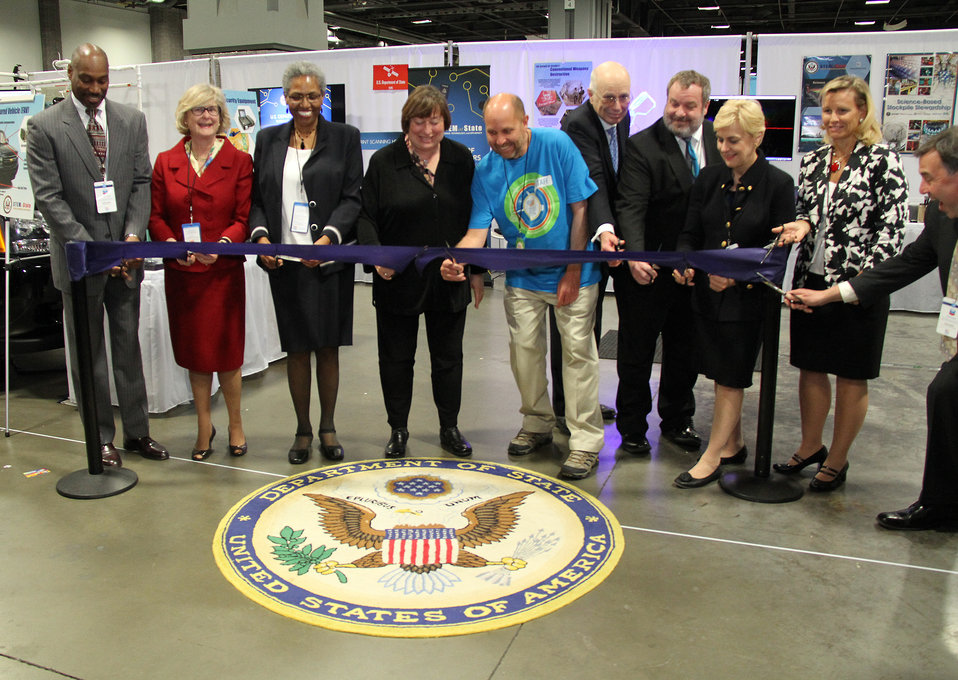 State Department VIPs Officially Open the State Department Exhibit at the USA Science and Engineering Festival