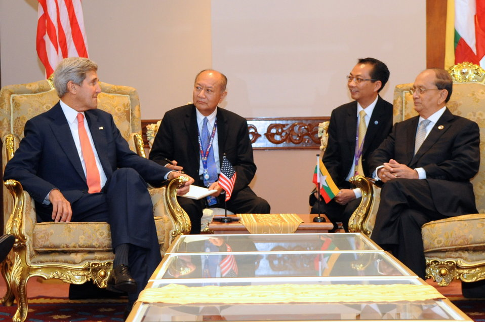 Secretary Kerry Meets With Burmese President Thein Sein