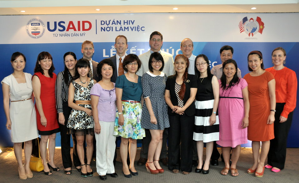 The team at USAID HIV Workplace Project and USAID staff