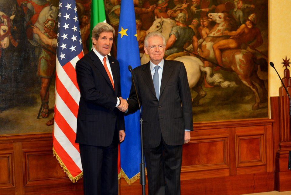 Secretary Kerry Meets With Italian Prime Minister Monti