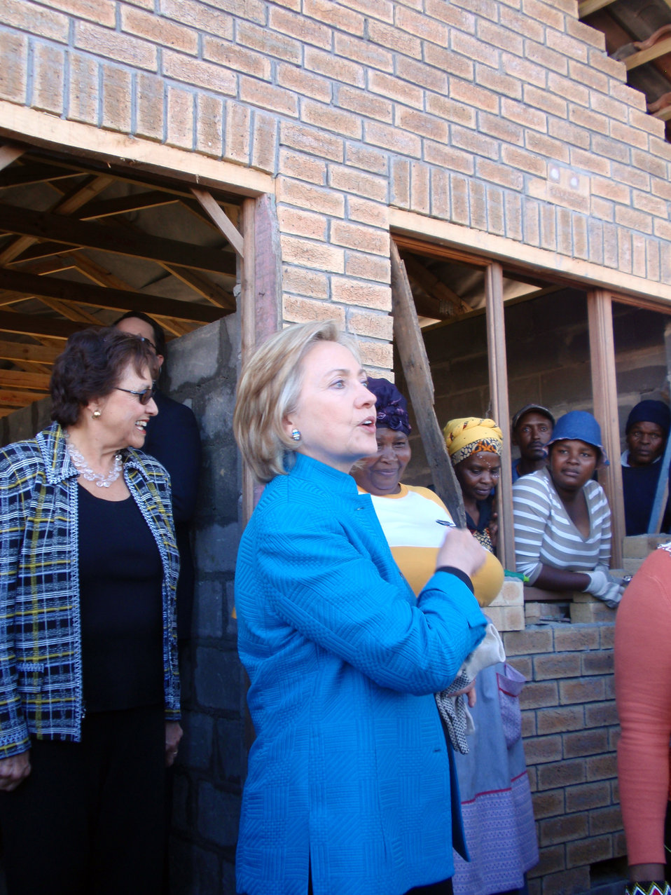 Secretary Clinton Visits Victoria Mxenge Housing Development