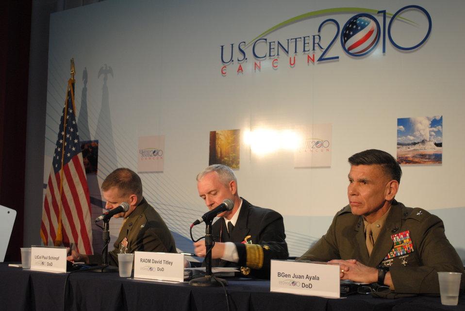 U.S. Deparrtment of Defense Representatives Respond to a Question