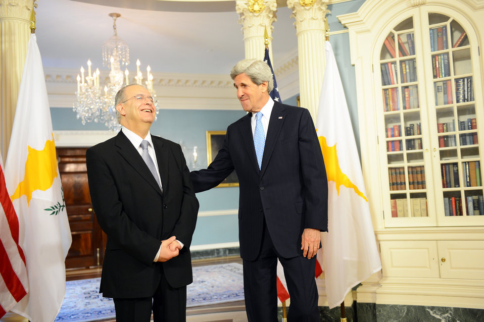 Secretary Kerry Meets With Cypriot Foreign Minister Kasoulides