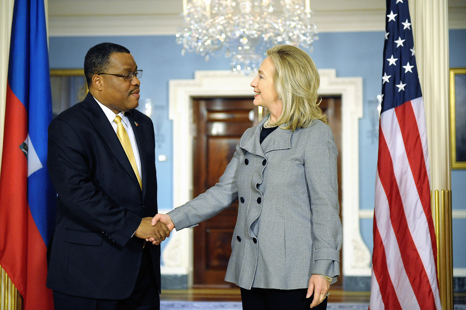Secretary Clinton Meets With Haitian Prime Minister Conille