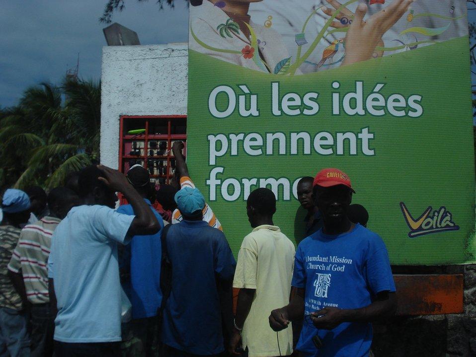 Cell Phone Charging Station (Haiti Earthquake - 2010)