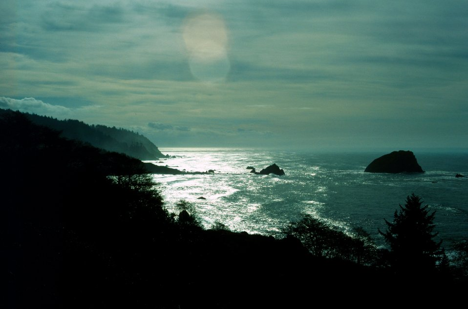 Del Norte County coastline just south of the California-Oregon border.