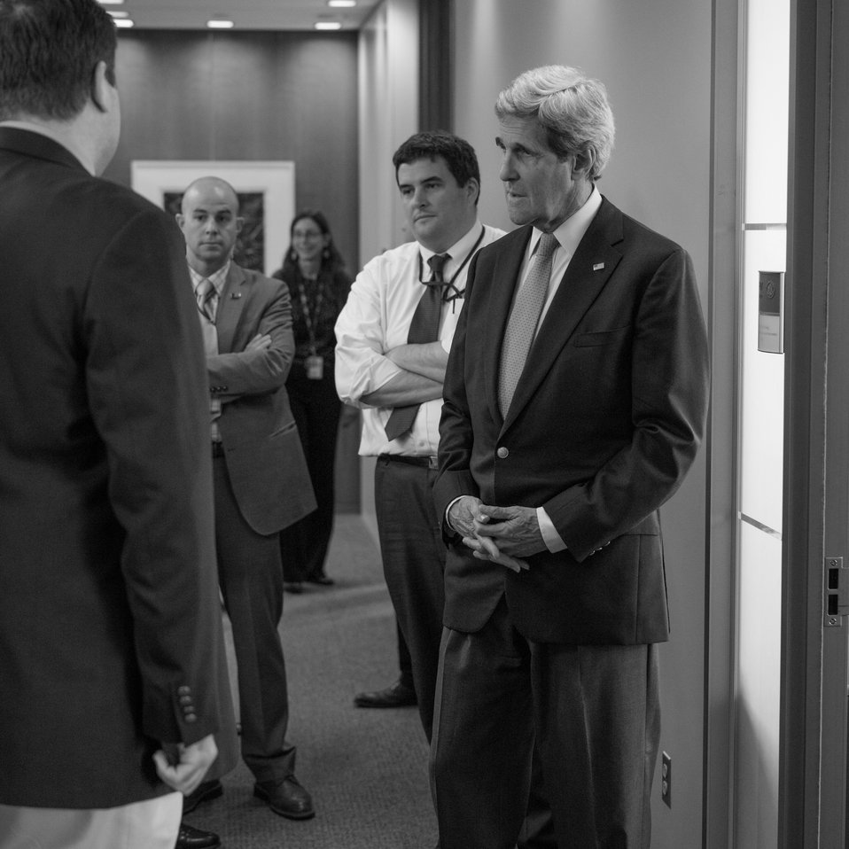 Secretary Kerry Meets With IIP Coordinator Phillips and His Staff