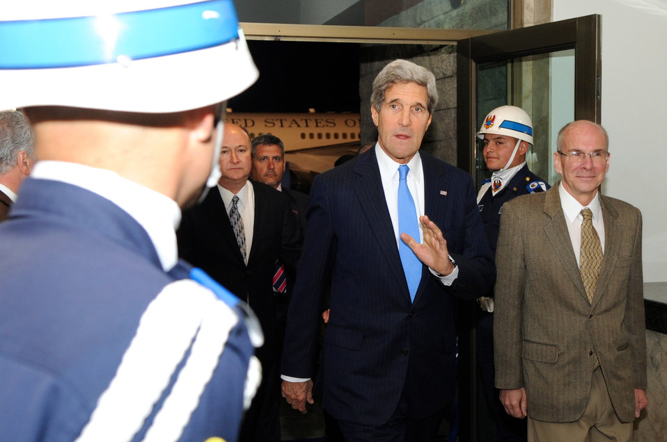 Secretary Kerry Arrives in Bogota, Colombia