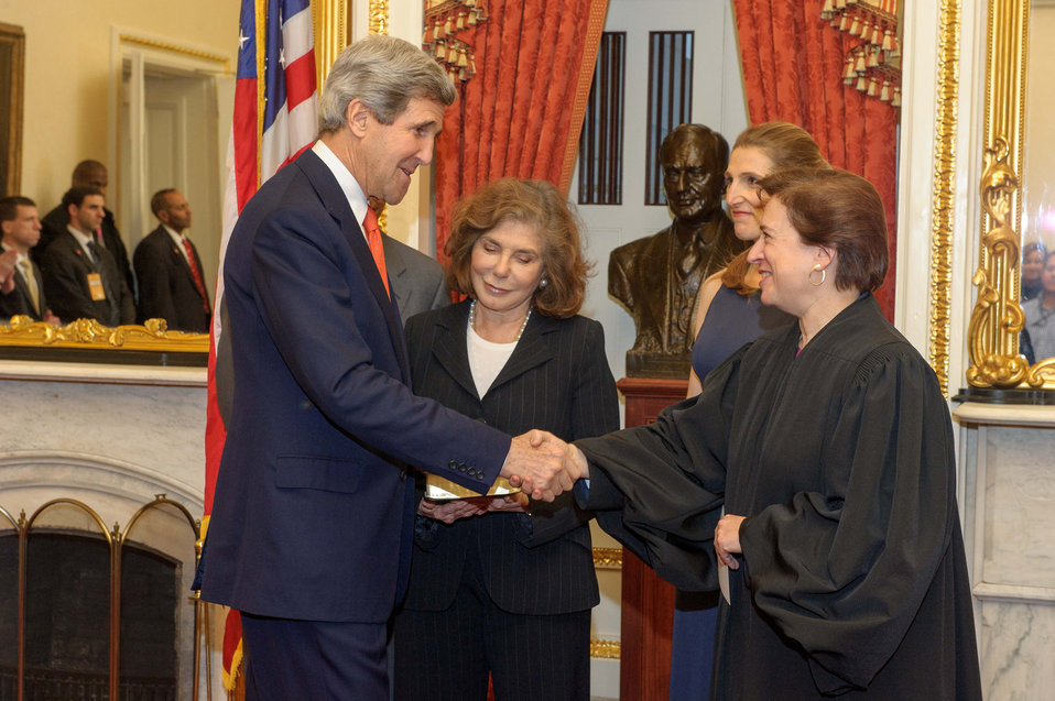 Supreme Court Justice Kagan Swears in Secretary Kerry