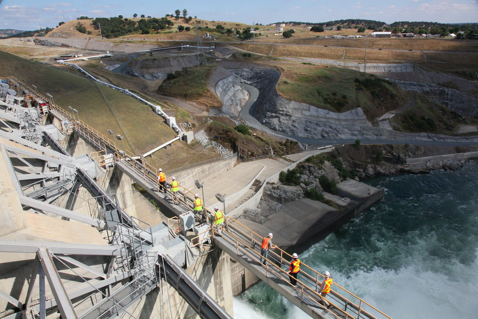 Corps' Civil Works Leaders visit the Folsom Dam Joint Federal Project