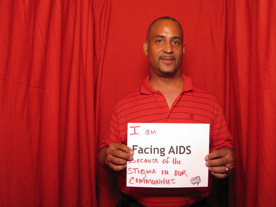 I am FACING AIDS because of the stigma in our communities.