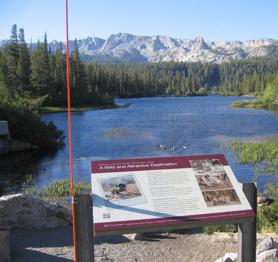 Lakes Basin Interpretative Sign