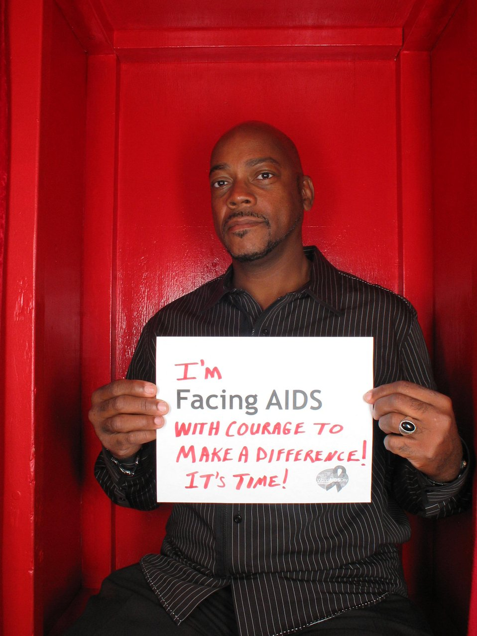 I'm Facing AIDS with courage to make a difference! It's time.