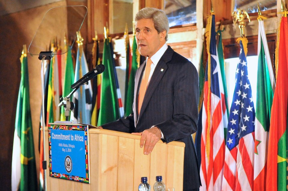 Secretary Kerry Delivers Speech About Africa Policy in Ethiopia
