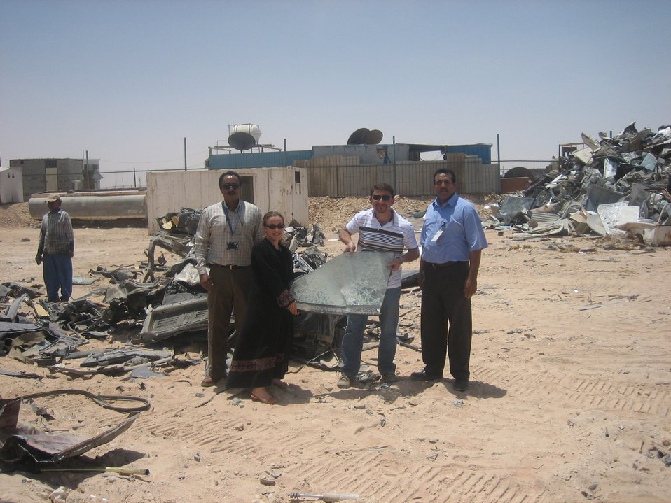 Legal Attaché Staff Witness the Demolition of Vehicles