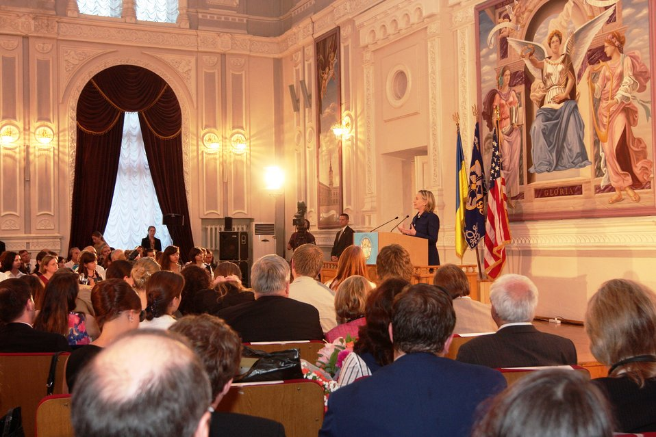 Secretary Clinton Addresses Kyiv Polytechnic Institute Town Hall