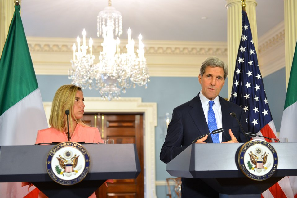 Secretary Kerry and Italian Foreign Minister Mogherini Hold a Joint News Conference