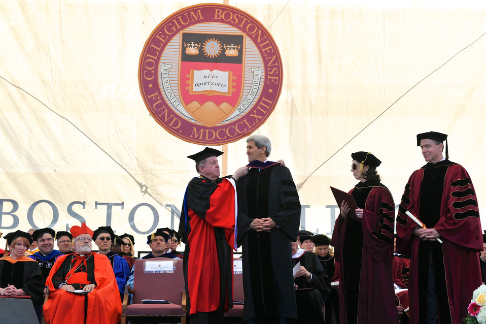 Secretary Kerry Receives Honorary Degree During Boston College Commencement
