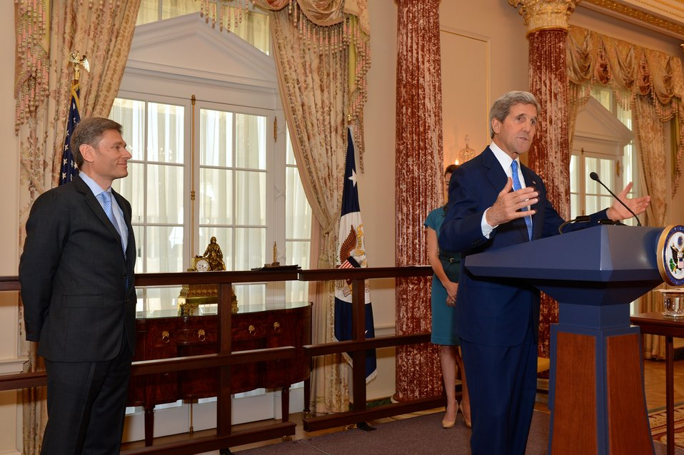 Secretary Kerry Delivers Remarks at Assistant Secretary Malinowski's Swearing-in Ceremony