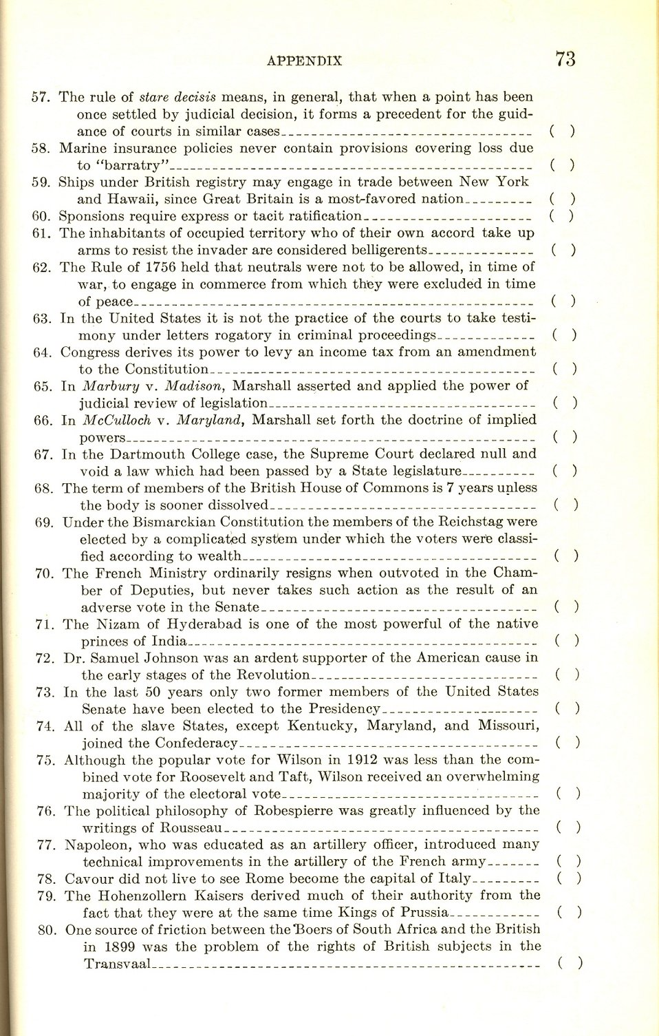 Test Your Knowledge With Sample Questions From a 1940 U.S. Foreign Service Exam Booklet