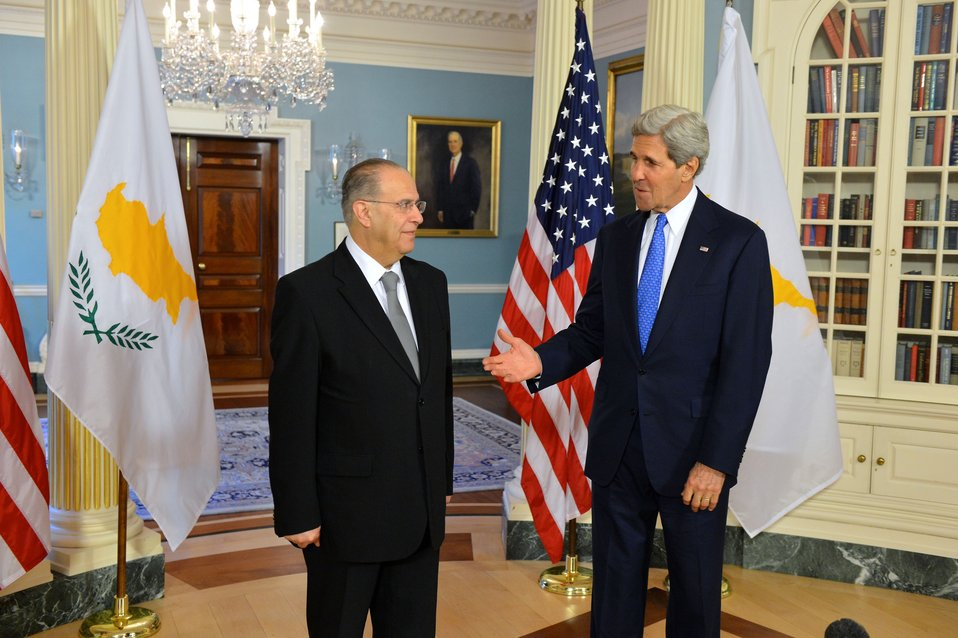 Secretary Kerry and Cypriot Foreign Minister Kasoulides Address Reporters