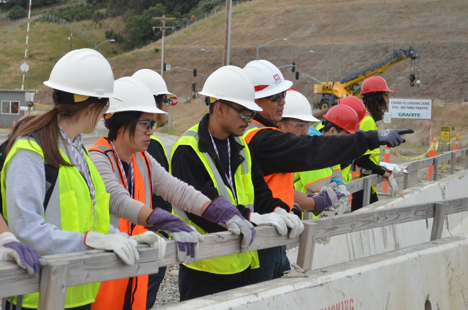 Hiram W. Johnson High School  students visit Folsom Dam auxiliary spillway