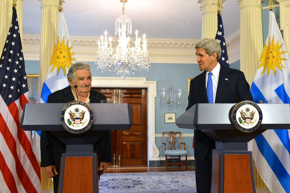 Secretary Kerry and Uruguayan President Mujica Address Reporters