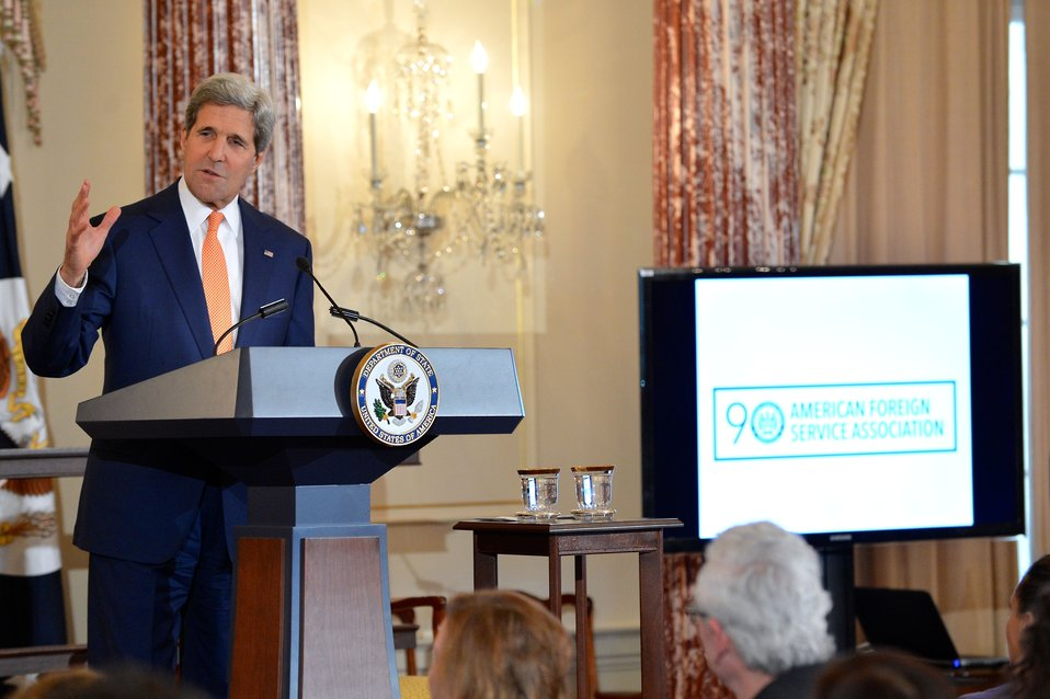Secretary Kerry Celebrates the 90th Anniversary of the U.S. Foreign Service
