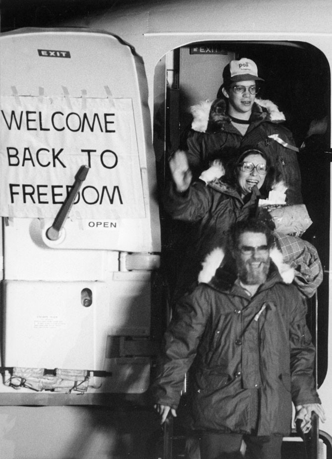 U.S. Hostages Disembark From the Plane After 444 Days of Captivity in Iran