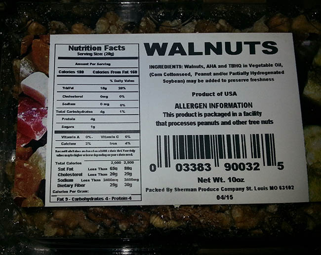 RECALLED – Walnuts