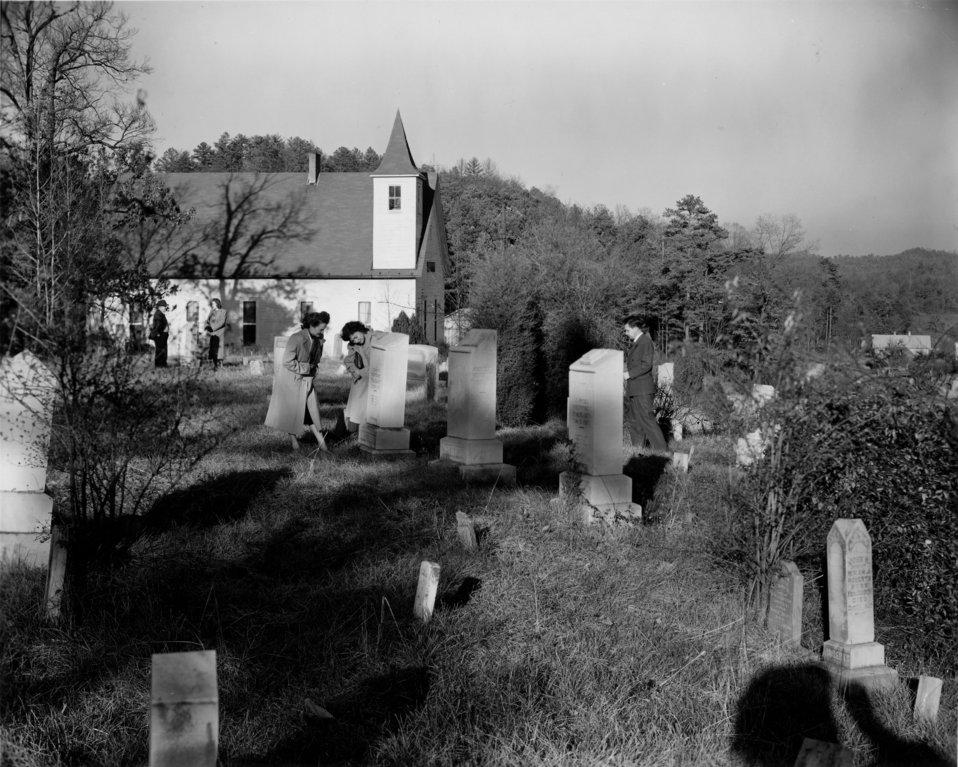 Wheat Cemetery and Church 1948 Oak Ridge