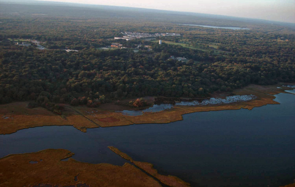 Aerial view of the refuge