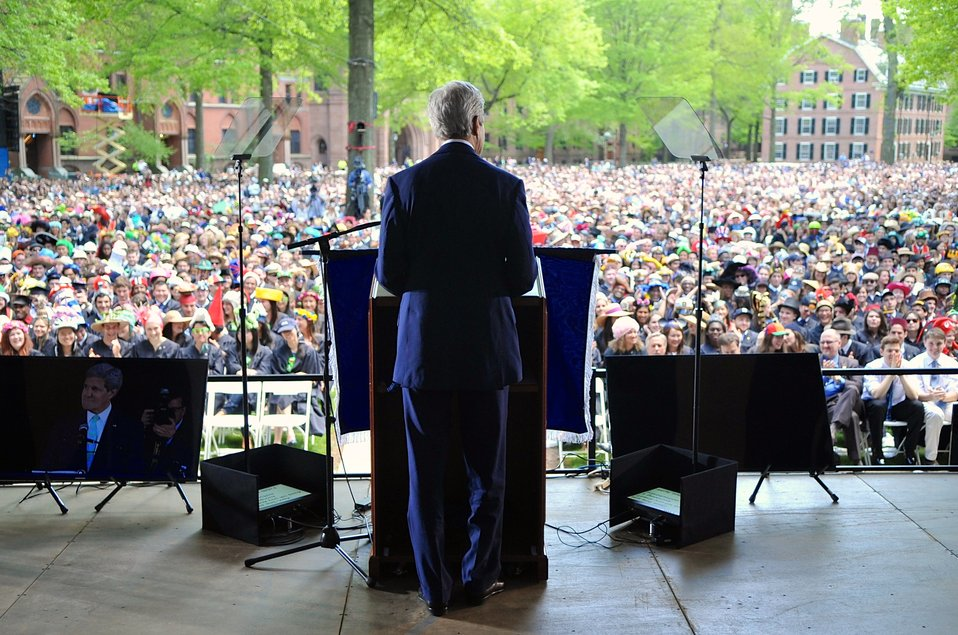 Secretary Kerry Addresses Graduates During Yale University's Class Day Ceremonies