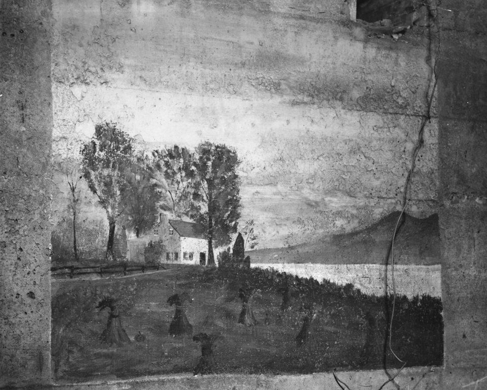 Painting of Wheat School by Edgar Ward 1940 Oak Ridge