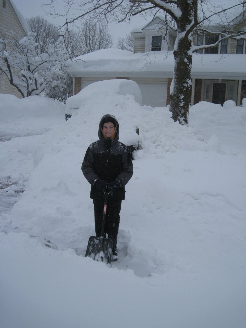 Shoveling out driveways led to 6-foot and greater piles of snow.