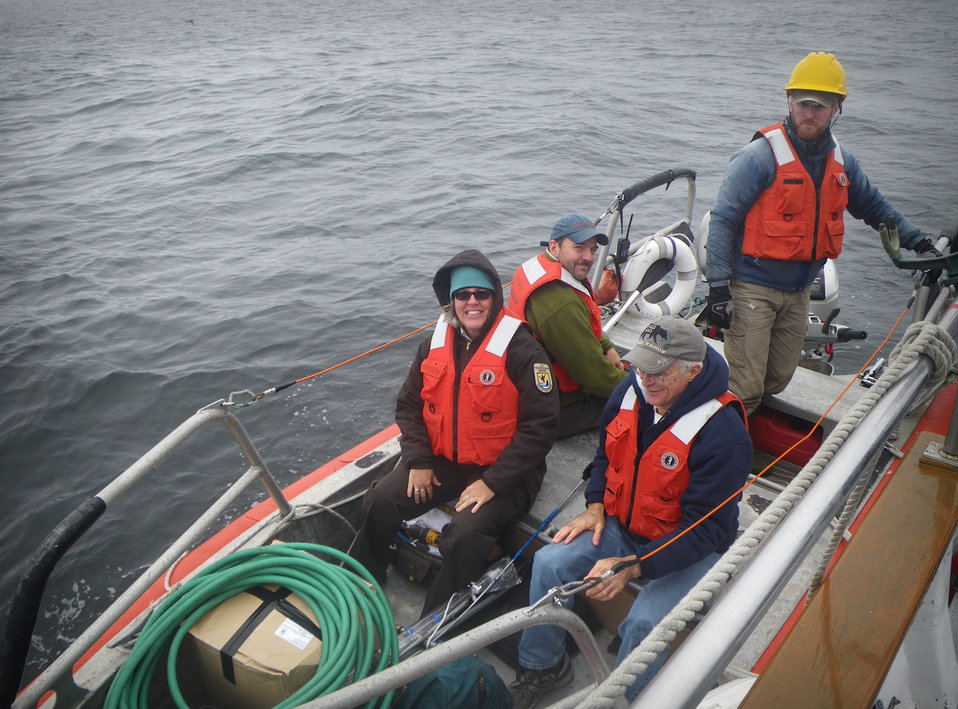 San Francisco Bay NWR Complex Manager with biologists and contractors