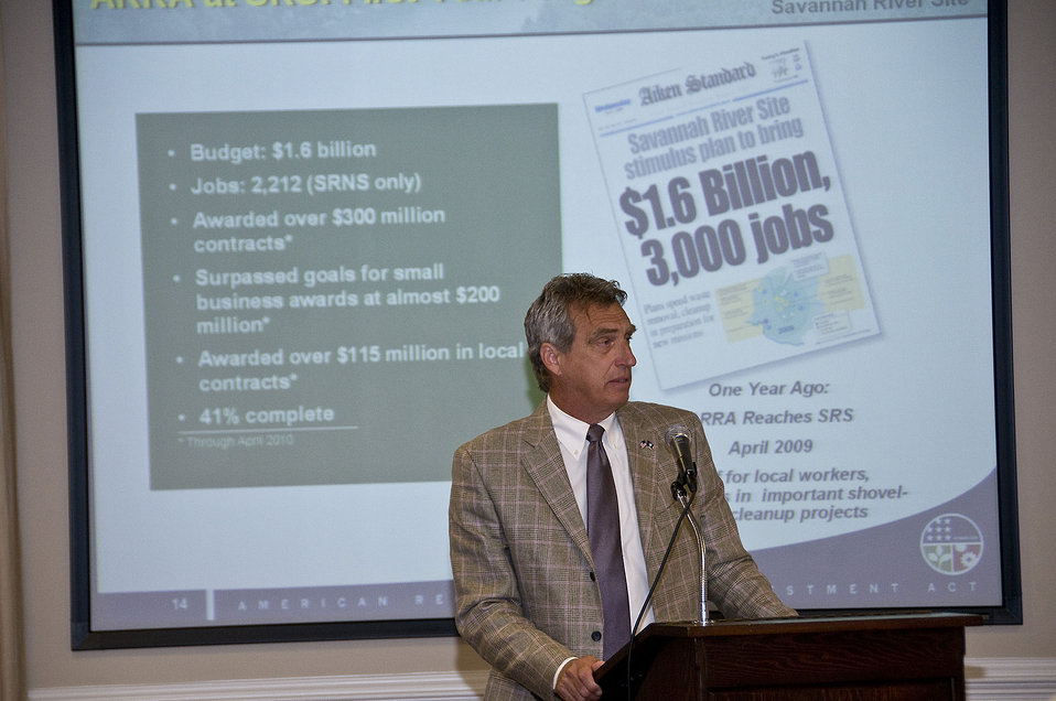 Recovery Act Boosts Savannah River Site's Thriving Stakeholder Relationships