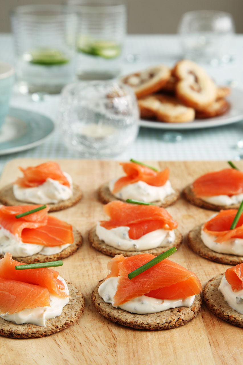 Smoked salmon appetizer