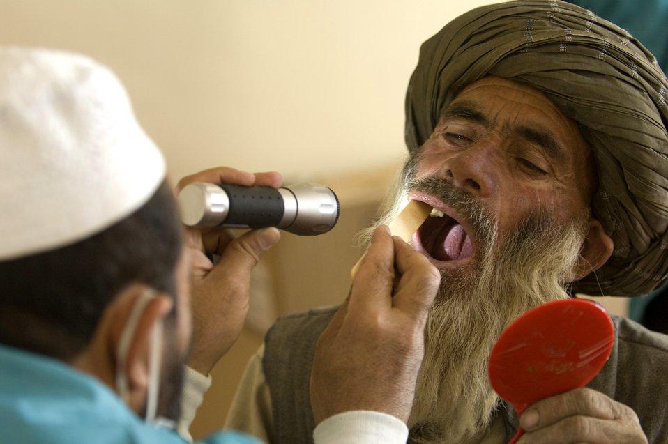 Servicemembers provide dental training for Afghans