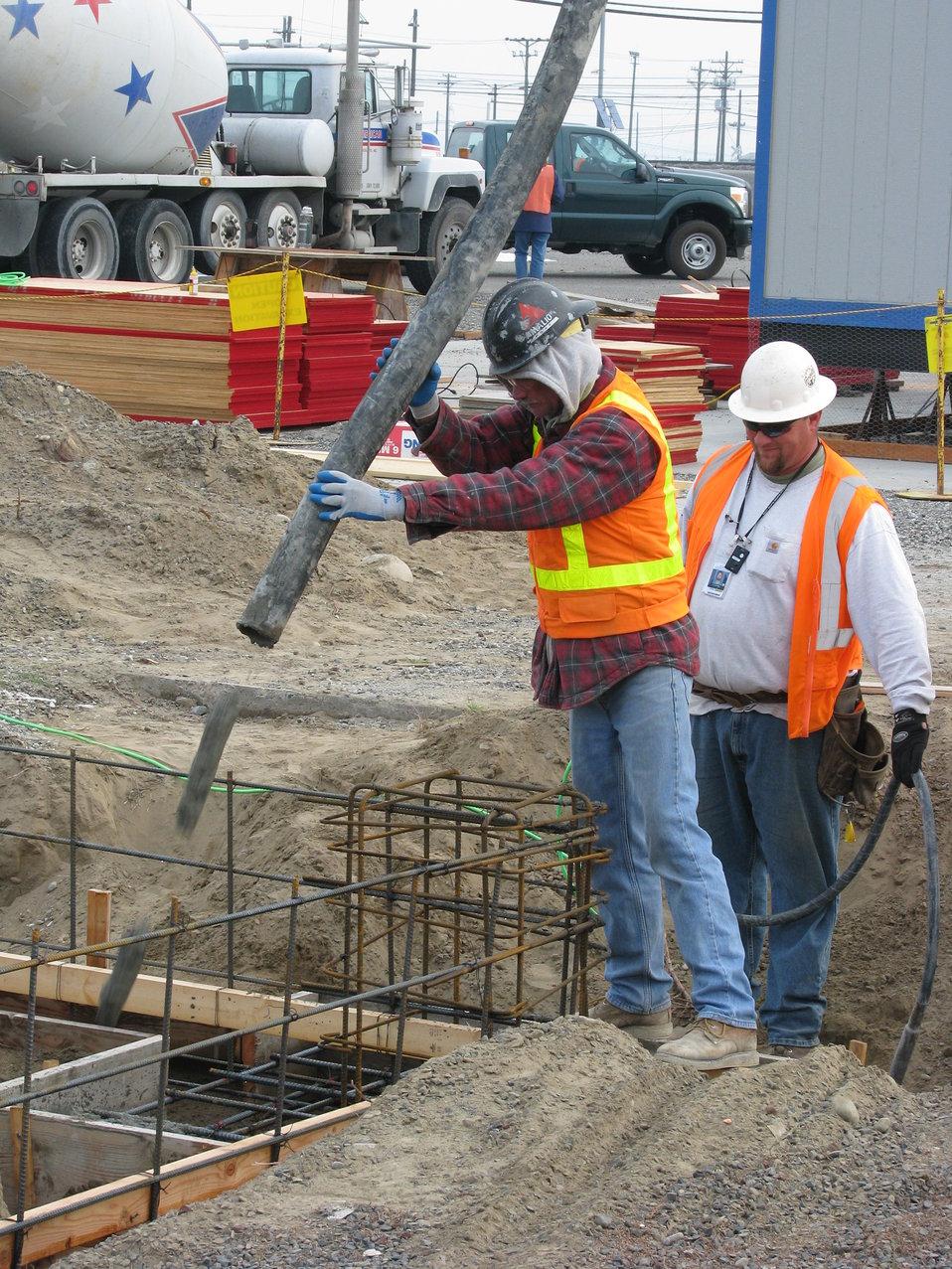 218-A concrete pour