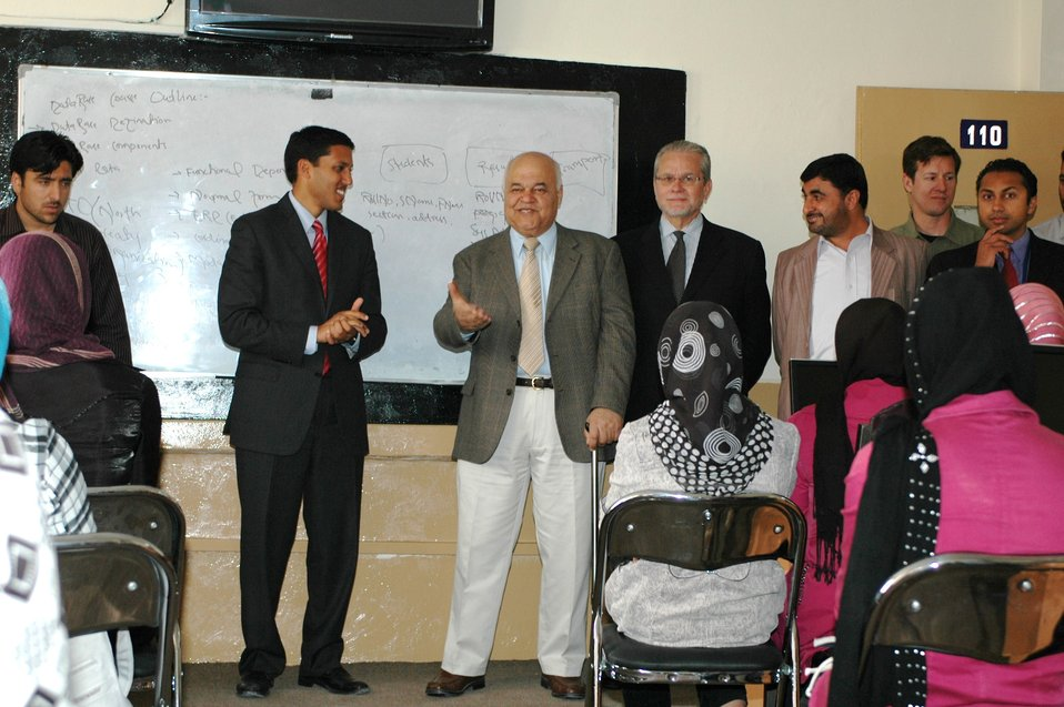Dr Shah Visits Votech in Kabul