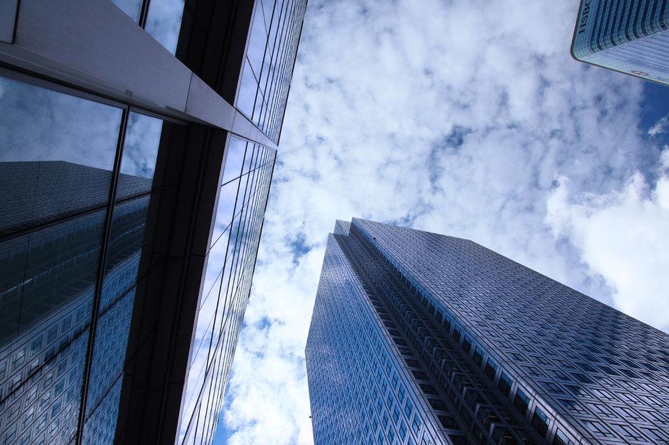 Glass skyscrapers