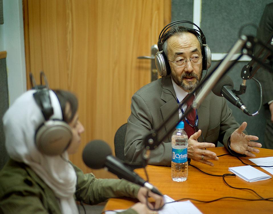 Ken Yamashita and Zarlasht Joya