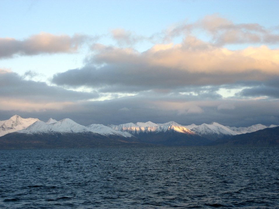 A scene along the Alaska Peninsula.