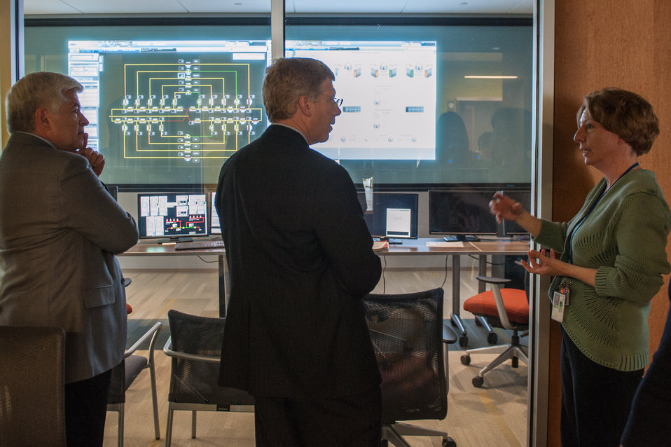 Acting Secretary Daniel Poneman, U.S. Department of Energy, control center ESIF