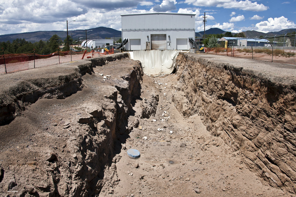 Los Alamos excavated trench