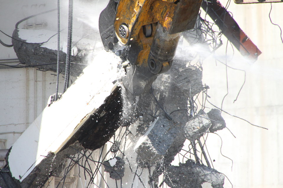 224-U closeup demolition
