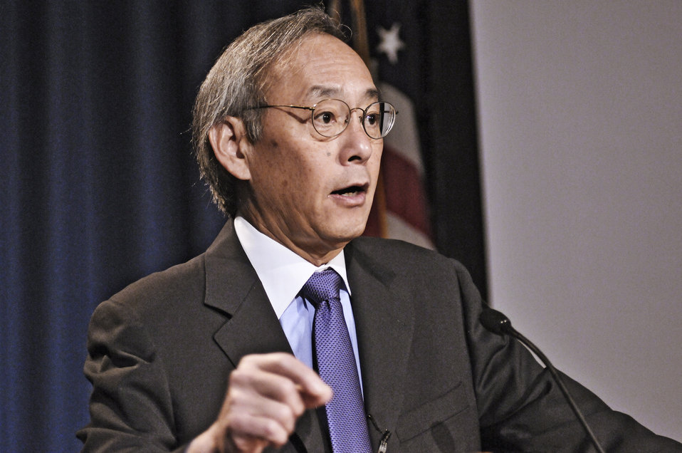 Energy Secretary Steven Chu gives remarks at the unveiling of the Quadrennial Technology Review. Energy Department Image | Photo by Charles