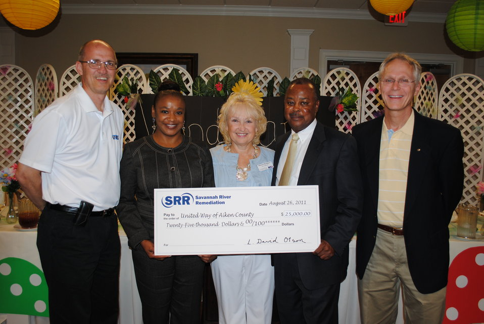 Savannah River Remediation Helps Set the Campaign Pace By Donating $25,000 to United Way of Aiken County